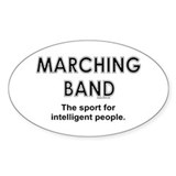 Marching Band Oval Sticker (10 pk)