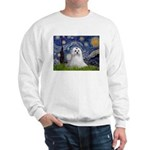 Starry Night & Maltese Sweatshirt