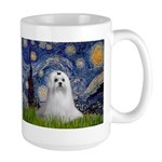 Starry Night & Maltese Large Mug