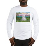 Cloud Angel & Maltese Long Sleeve T-Shirt