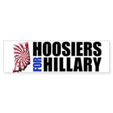 Hoosiers for Hillary! Bumper Car Sticker