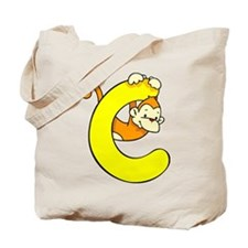 Zoo Alphabet C - Monkey Tote Bag