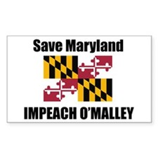 Impeach O'Malley Rectangle Sticker 50 pk)