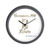 Goldsboro MD It's My Town Wall Clock