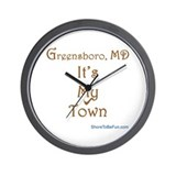 Greensboro MD It's My Town Wall Clock