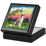 Bright Country with Saluki Keepsake Box