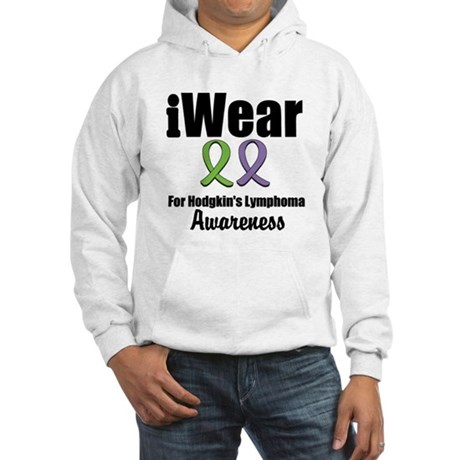 iWear Hodgkin's Ribbons Hooded Sweatshirt