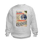 Global Warming Hollywood Vintage Poster Kids Sweat
