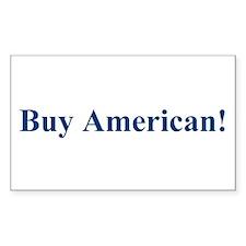 Buy American! Rectangle Sticker 50 pk)