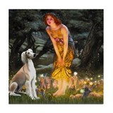 Midsummer's Eve & Saluki Tile Coaster