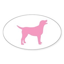 pink labrador retriever Oval Decal