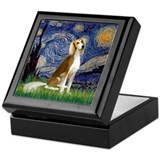 Starry Night & Saluki Keepsake Box