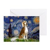 Starry Night & Saluki Greeting Cards (Pk of 10