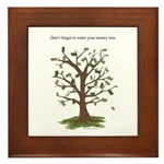 Water Your Money Tree Framed Tile