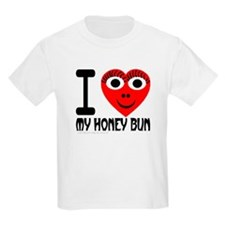 I (Heart) My Honey Bun Kids T-Shirt