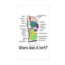 foot 1 Rectangle Sticker 10 pk)