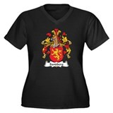 Sandberg Family Crest Women's Plus Size V-Neck Dar