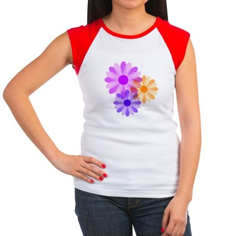 Flowers Women's Cap Sleeve T-Shirt
