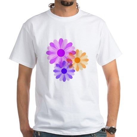 Flowers White T-Shirt