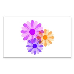 Flowers Rectangle Sticker