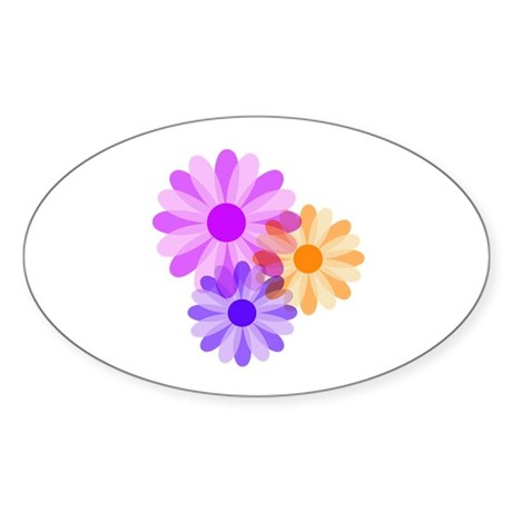 Flowers Oval Sticker (10 pk)