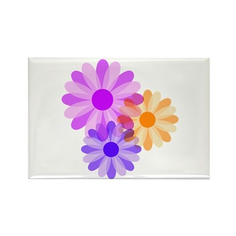 Flowers Rectangle Magnet (10 pack)