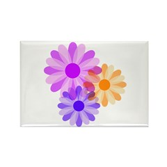 Flowers Rectangle Magnet (100 pack)