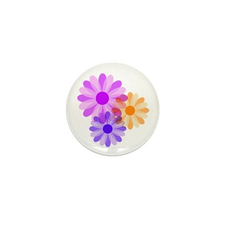Flowers Mini Button