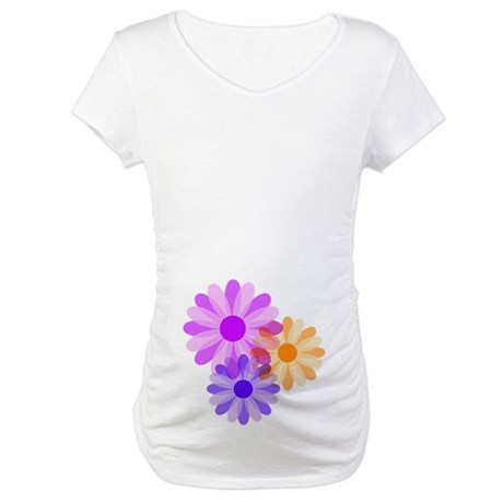 Flowers Maternity T-Shirt