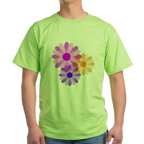 Flowers Green T-Shirt