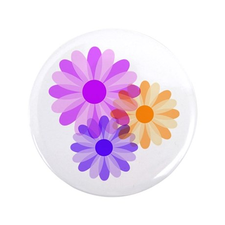 "Flowers 3.5"" Button"