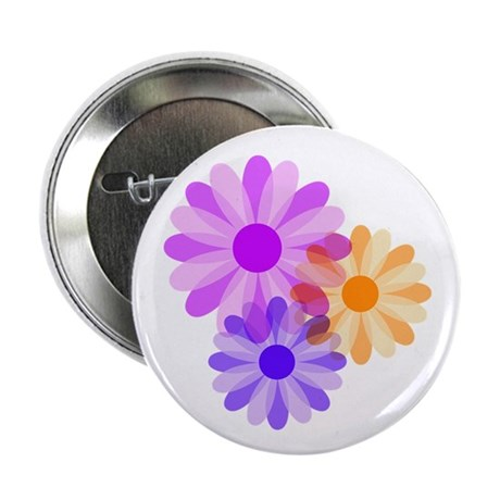 "Flowers 2.25"" Button (100 pack)"