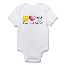 Peace, Love, Needlepoint Infant Bodysuit