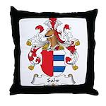 Sahr Family Crest Throw Pillow