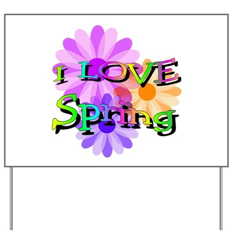 Love Spring Yard Sign