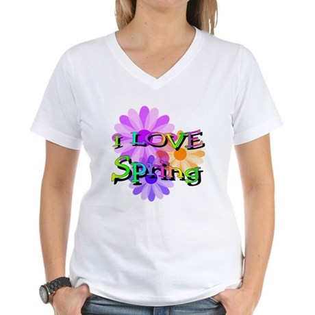Love Spring Women's V-Neck T-Shirt