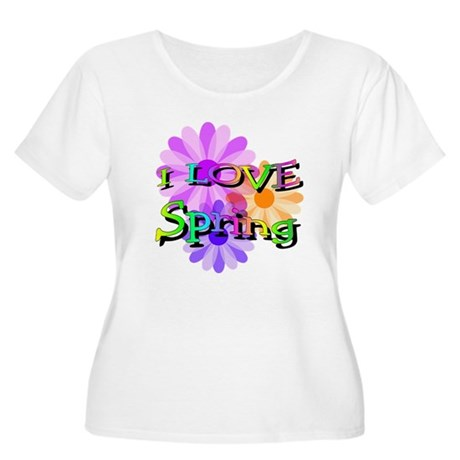 Love Spring Women's Plus Size Scoop Neck T-Shirt