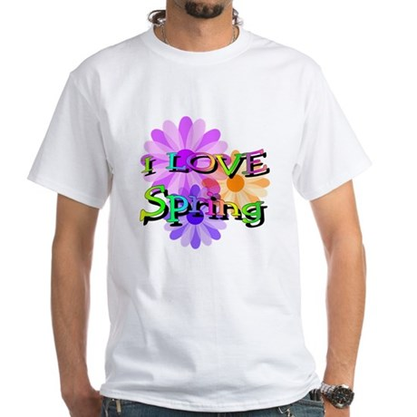 Love Spring White T-Shirt