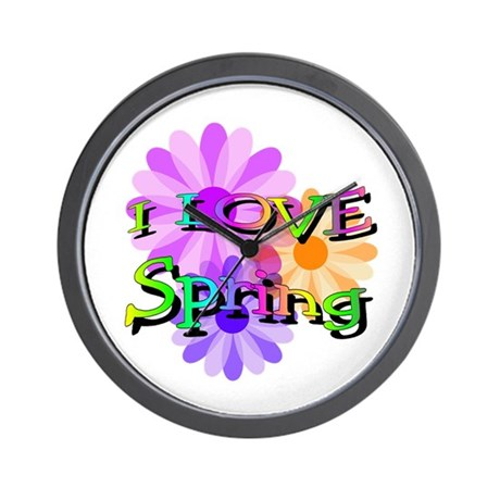 Love Spring Wall Clock