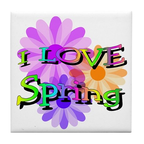 Love Spring Tile Coaster