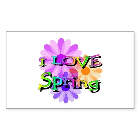 Love Spring Rectangle Sticker