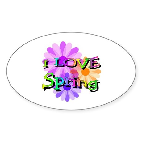 Love Spring Oval Sticker