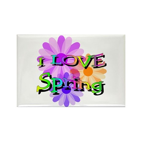 Love Spring Rectangle Magnet
