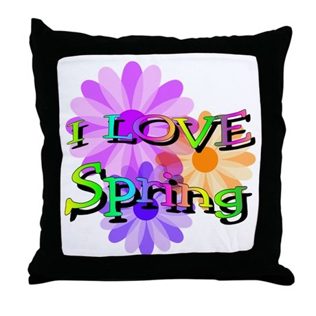 Love Spring Throw Pillow
