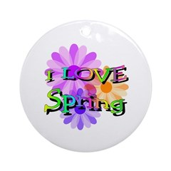 Love Spring Ornament (Round)
