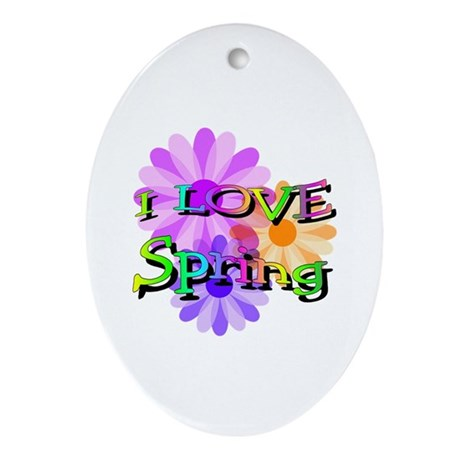 Love Spring Oval Ornament
