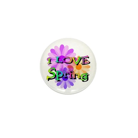 Love Spring Mini Button