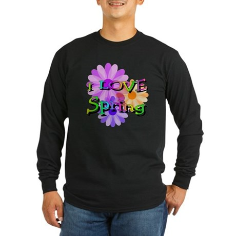 Love Spring Long Sleeve Dark T-Shirt