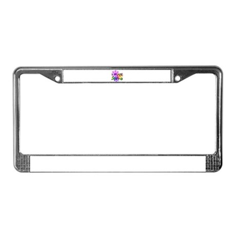 Love Spring License Plate Frame
