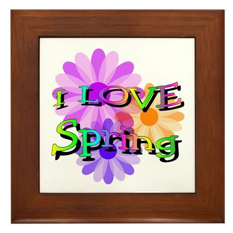 Love Spring Framed Tile